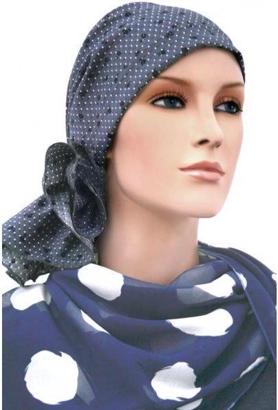 S327 医療用帽子 ケア帽子 抗がん剤治療帽子 医療用帽子 リボン付き