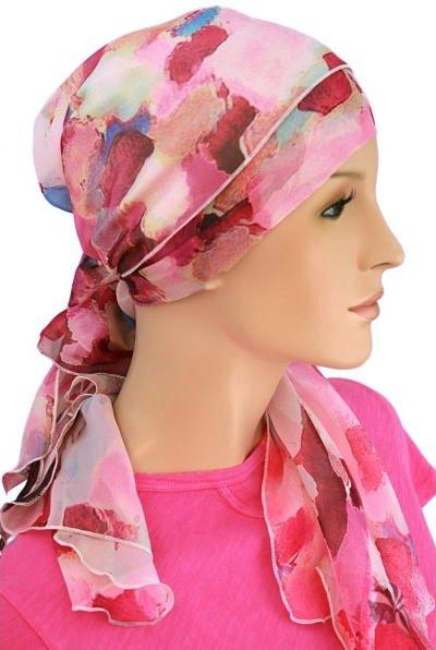 S366 医療用帽子 ケア帽子 抗がん剤治療帽子 医療用帽子 リボン付き