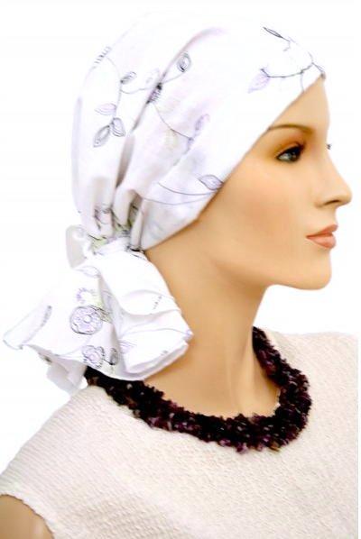 S352 医療用帽子 ケア帽子 抗がん剤治療帽子 医療用帽子 リボン付き